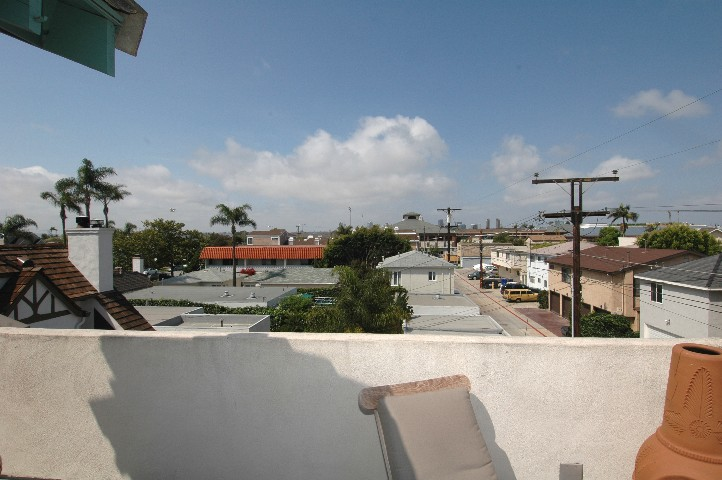 Up on the roof.... your private patio awaits...