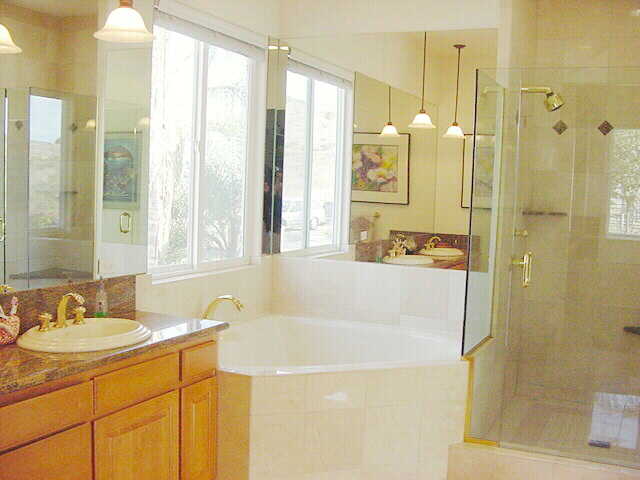 Master Bath Suite with Jacuzzi Garden Tub and Double Shower