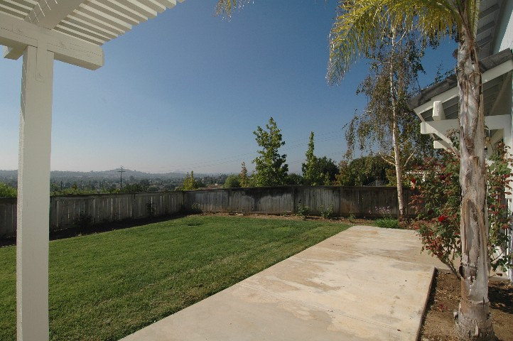 Spacious fenced yard... and Panoramic View over Escondido